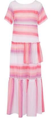Lemlem Striped Cotton-Gauze Maxi Dress