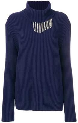 Christopher Kane crystal detail knit jumper