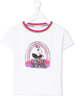 Little Marc Jacobs sequinned panda print T-shirt