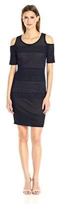 Calvin Klein Women's Cold Shoulder Pointelle Dress