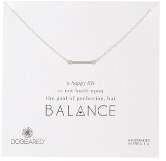 Dogeared Sterling Silver Balance Small Bar Necklace $48 thestylecure.com
