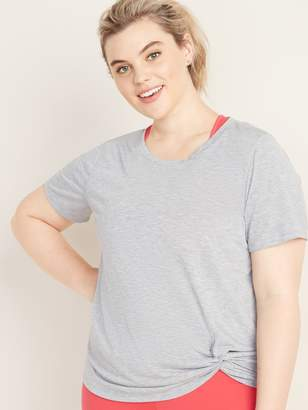 Old Navy Relaxed Plus-Size Knotted-Hem Performance Top