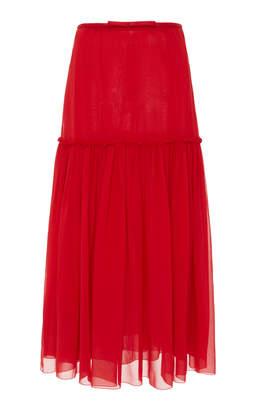 Giambattista Valli High Waist Midi Skirt