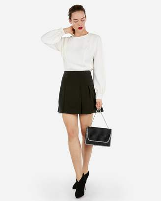 Express High Waisted Seamed Flare Mini Skirt