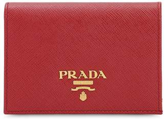 Prada Compact Saffiano Leather Wallet
