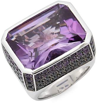 Roberto Coin Women's Amethyst and 18K White Gold Colored Dreams Ring