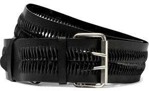 Ann Demeulemeester Laser-Cut Textured-Leather Belt