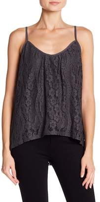 Love Stitch Scoop Neck Lace Tank Top