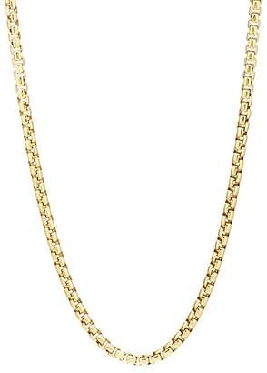 Degs & Sal DEGS & SAL MEN'S YELLOW-GOLD-PLATED BOX-CHAIN NECKLACE