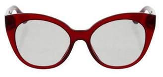 Miu Miu Cat-Eye Embellished Sunglasses