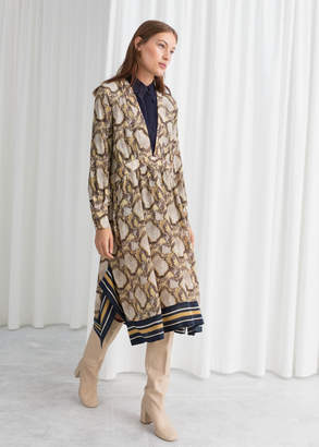And other stories Oversized Snake Silk Dress