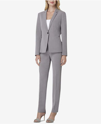 Tahari ASL One-Button Pinstriped Pantsuit