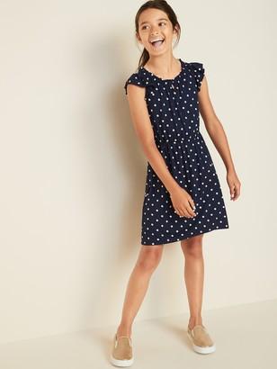 Old Navy Cinched-Waist Flutter-Sleeve Dress for Girls