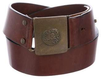 Dolce & Gabbana Distressed Leather Belt