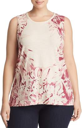 Lucky Brand Plus Botanical Print Tank