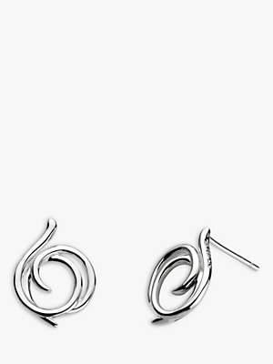 Kit Heath Sterling Silver Large Helix Wrap Stud Earrings, Silver