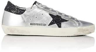 Golden Goose Women's Superstar Metallic Leather Sneakers $515 thestylecure.com