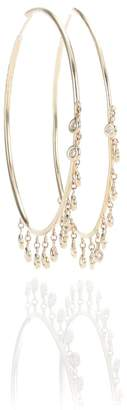 Jacquie Aiche Diamond Shaker 14kt gold and diamond hoop earrings