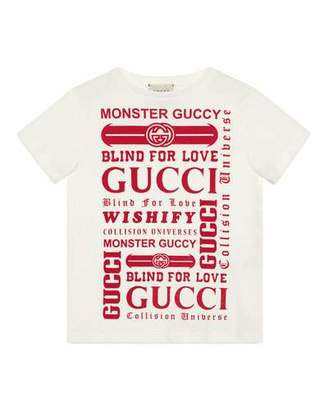 3d192289 Gucci Logo Graphic Short-Sleeve Tee, Size 4-10