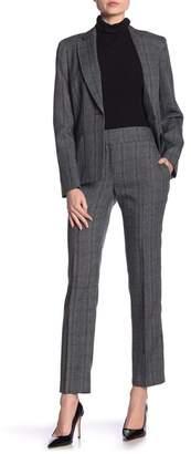 Kasper Plaid Straight Leg Pants