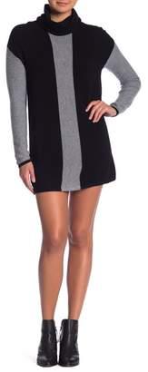 Sigrid Olsen Colorblock Turtleneck Cashmere Tunic Dress