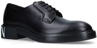 Valentino Derby Leather Logo Shoes