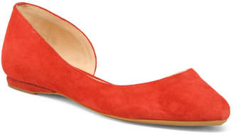 Suede Cutout D#39;orsay Flats
