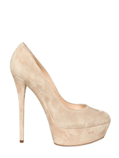 Casadei - 150mm Suede Pumps