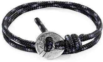 Anchor And Crew Lerwick Silver & Rope Bracelet