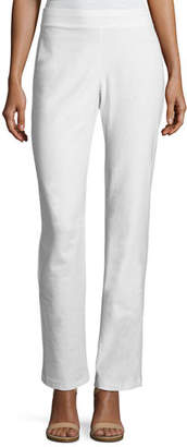 Eileen Fisher Washable Stretch-Crepe Boot-Cut Pants, Petite