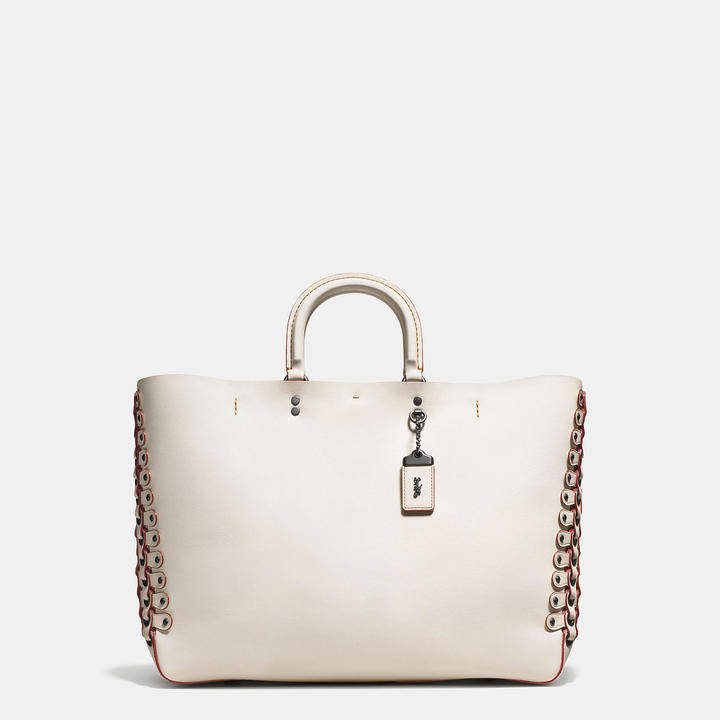 Coach   COACH Coach Rogue Tote In Glovetanned Calf Leather With Link Detail