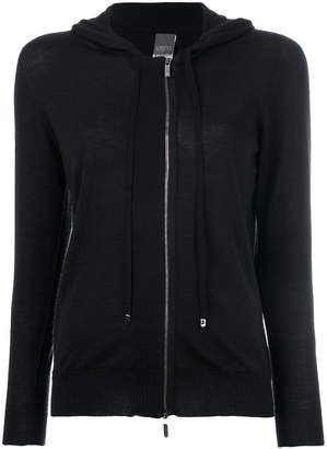 Lorena Antoniazzi off-centre zip hoodie