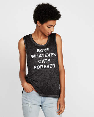 Express One Eleven Boys Whatever Cats Forever Muscle Tank