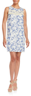 Kensie Printed Fring-Trimmed Sheath Dress $89 thestylecure.com