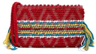 Antonello Tedde - Piattina Cotton Horizontal Stripe Clutch - Womens - Red Multi