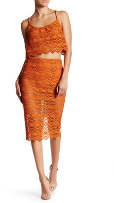 L'Atiste L&Atiste Crochet Cropped Shirt & Skirt Set $75 thestylecure.com