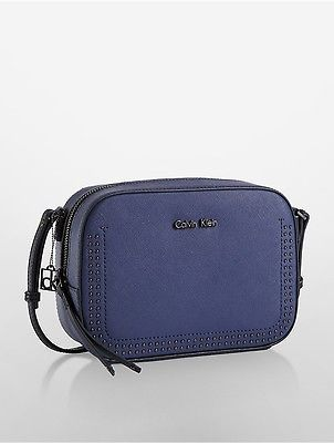 Calvin Klein Calvin Klein Womens Scarlett City Camera Bag Blue Stone