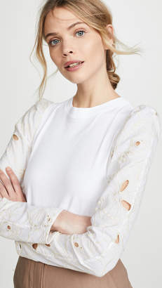 See by Chloe Eyelet Sleeve Top