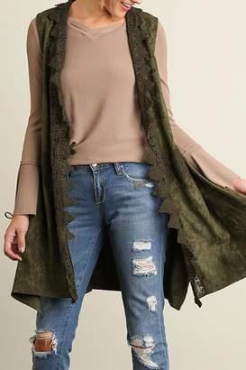 Umgee USA Olive Eva Vest $106 thestylecure.com