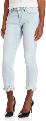 Current/Elliott Cascade Cropped Punk Hem Straight Jeans