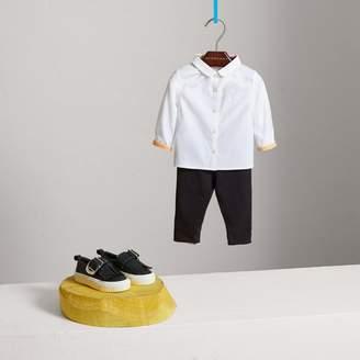 Burberry Peter Pan Collar Cotton Shirt