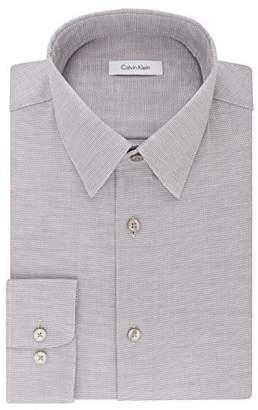 Calvin Klein Men's Dress Shirts Non Iron Regular Fit Stretch Unsolid Solid
