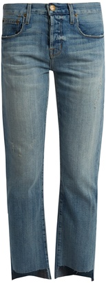 CURRENT/ELLIOTT The Crossover cropped boyfriend jeans $271 thestylecure.com