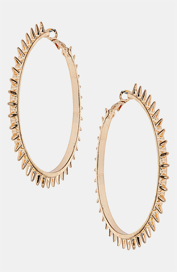 Topshop Spiky Hoop Earrings