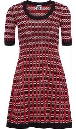 M Missoni Fluted Crochet-Knit Mini Dress