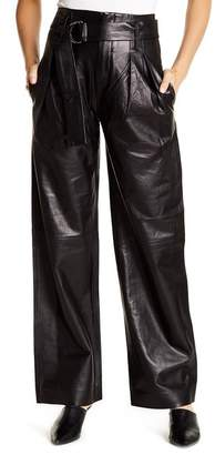 Frame Wide Leg Leather Trousers