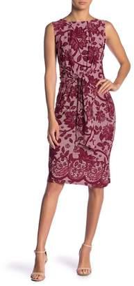 Leota Regina Front Tie Print Sleeveless Dress