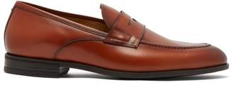 Harry's of London Clive R Leather Penny Loafers - Mens - Brown