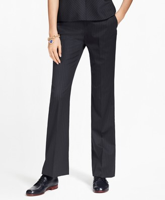 Brooks Brothers Petite Pinstripe Stretch-Wool Pants