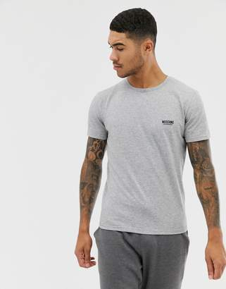Moschino Logo T-Shirt In Gray
